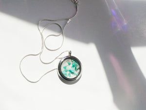 Amazonite + Quartz Locket Pendant