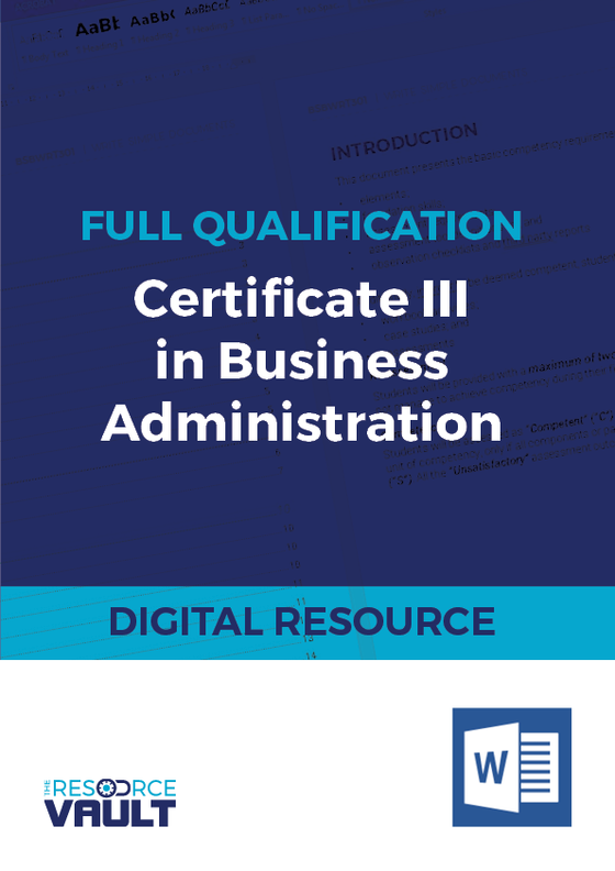 Full Qualification - Certificate III in Business Administration