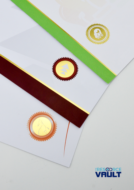 Foiled / Embossed Certificates