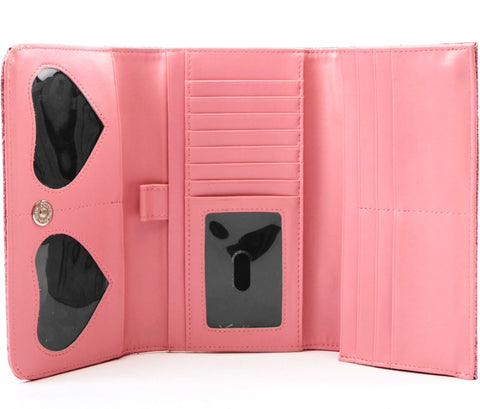 The V-8 Hot Rod Wallet - PINK BUBBLY SPARKLE