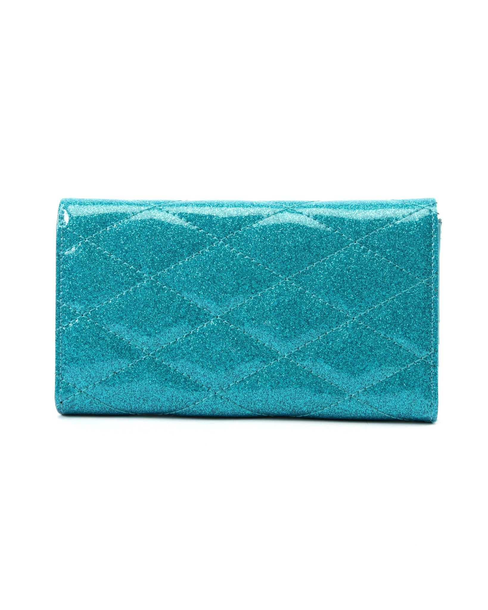 The V-8 Hot Rod Wallet - VILLAIN BLUE SPARKLE