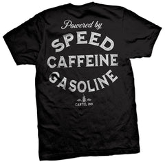 The SPEED CAFFEINE GASOLINE Tee
