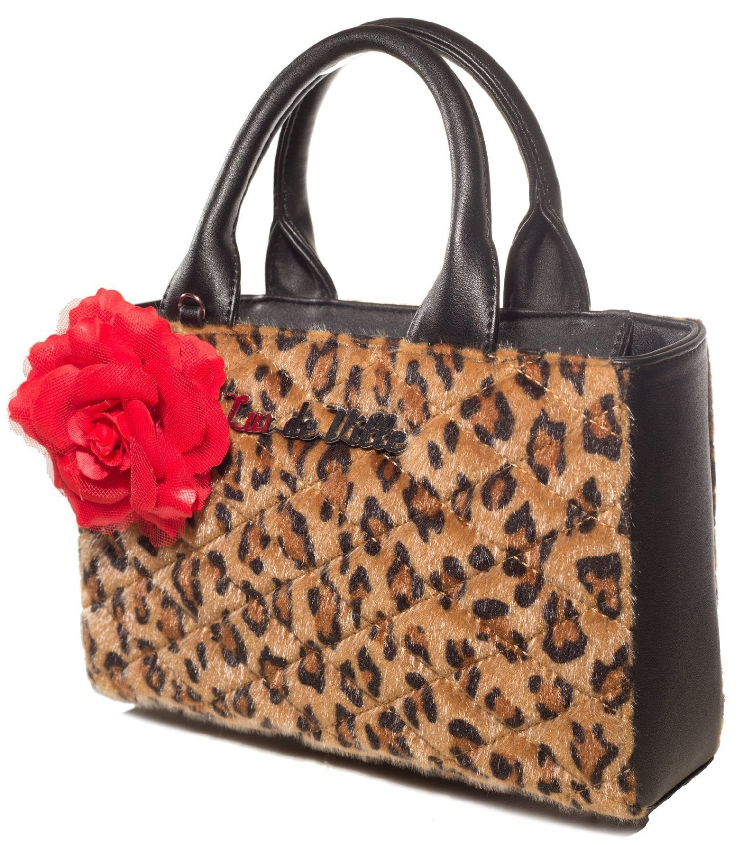 The BLACK DAHLIA Mini Tote - BROWN LEOPARD