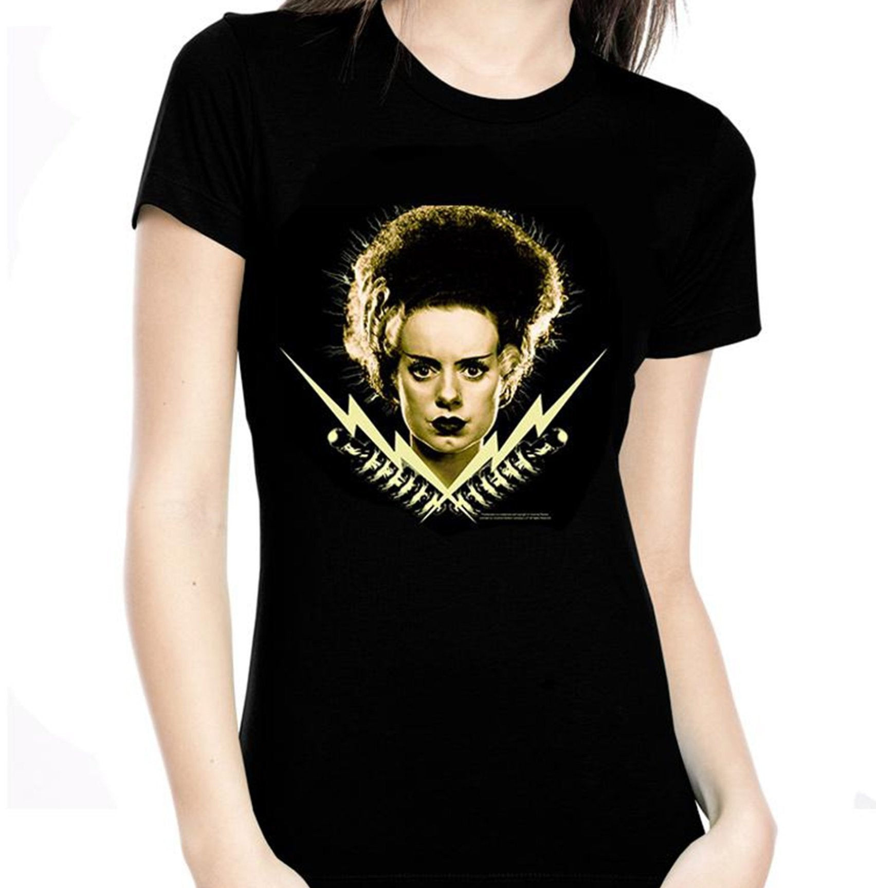 The BRIDE OF FRANKENSTEIN BOLTS Tee - GLOWS IN THE DARK!