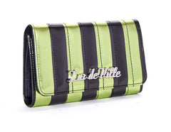 The BAD REPUTATION Wallet - GREEN & BLACK METALLIC