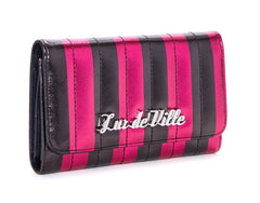 The BAD REPUTATION Wallet - PINK & BLACK METALLIC