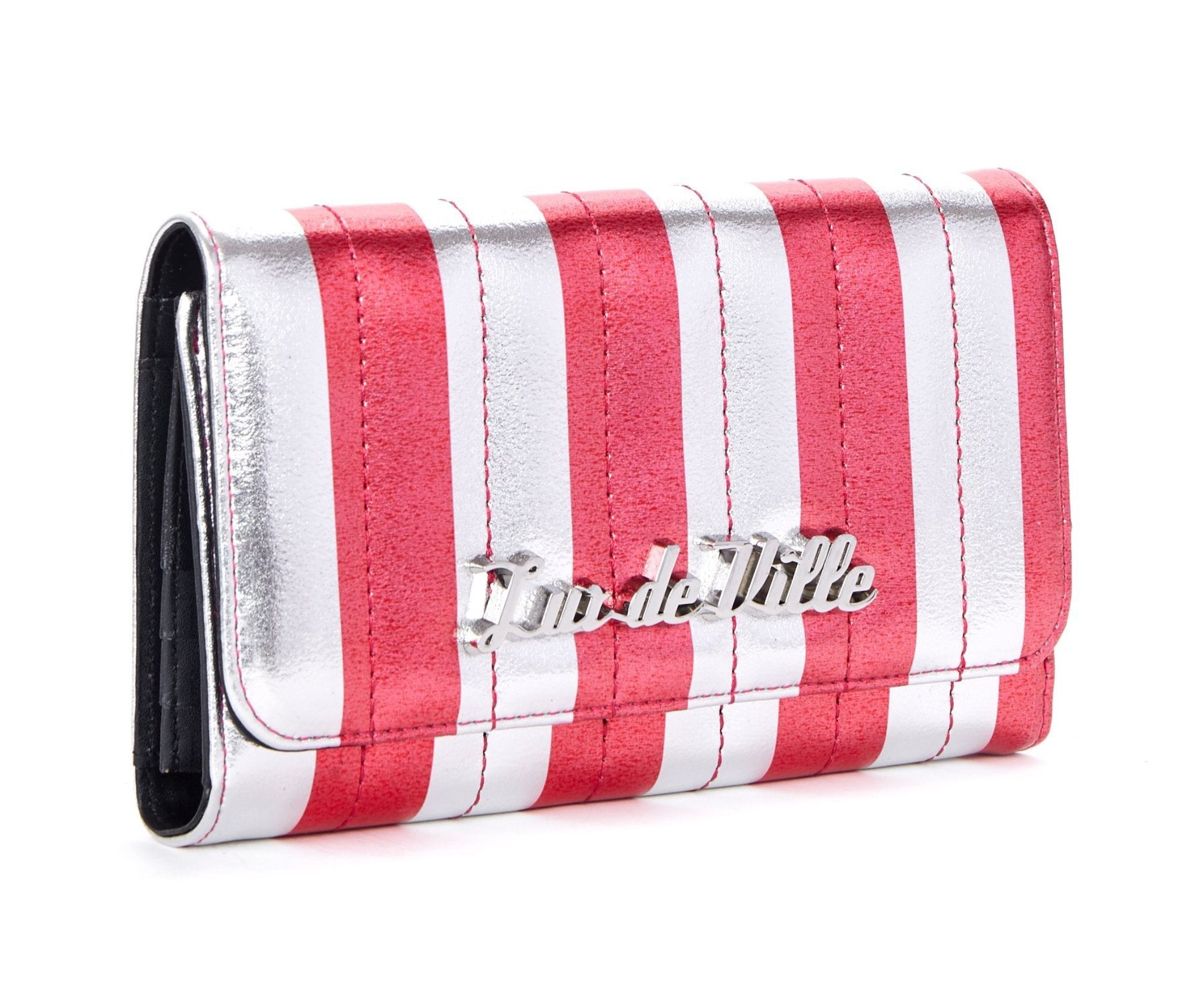 The BAD REPUTATION Wallet -SILVER & RED METALLIC