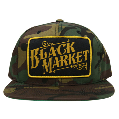 The BLACK MARKET Classic Trucker Snapback Cap - CAMO