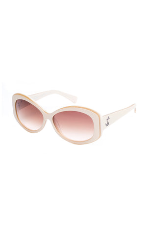 The BOMBSHELL Sunglasses - Cream Frames w/ Brown Gradient CR-39 Lenses