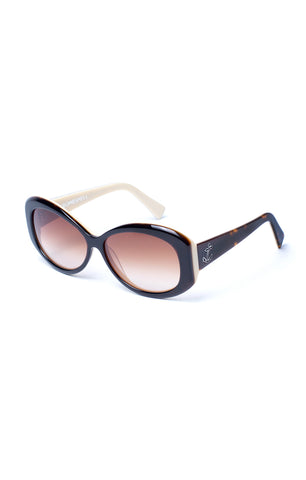 The BOMBSHELL Sunglasses - Coco Tortoise Frames w/ Brown Gradient CR-39 Lenses
