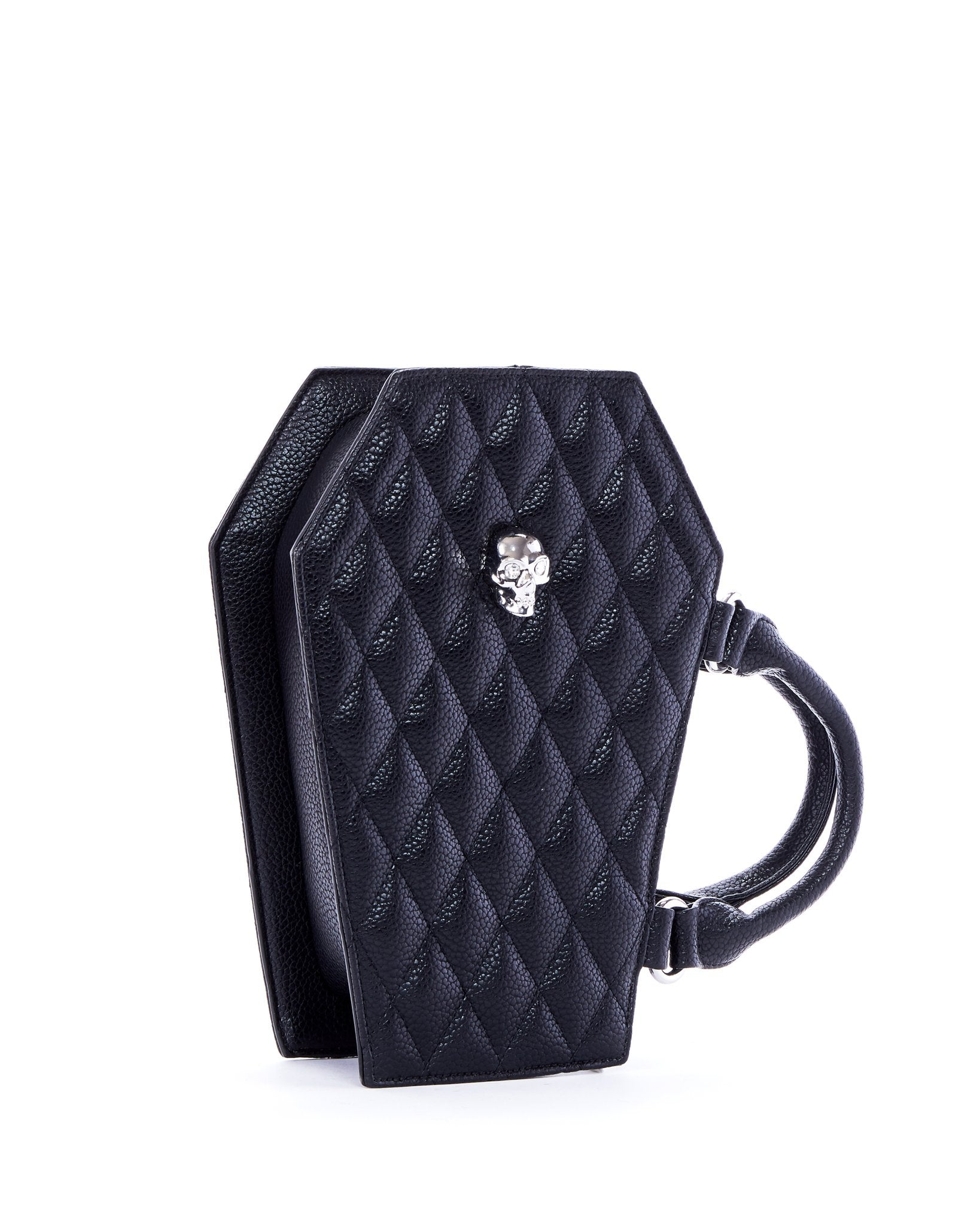 The Elvira Lux Coffin Mini Tote - MATTE BLACK
