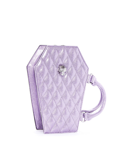 The Elvira Lux Coffin Mini Tote - LUSCIOUS LILAC SPARKLE