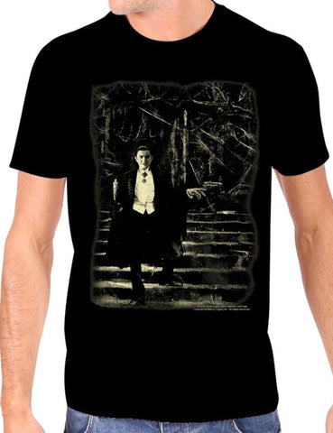 The DRACULA STAIRS Tee - GLOWS IN THE DARK!