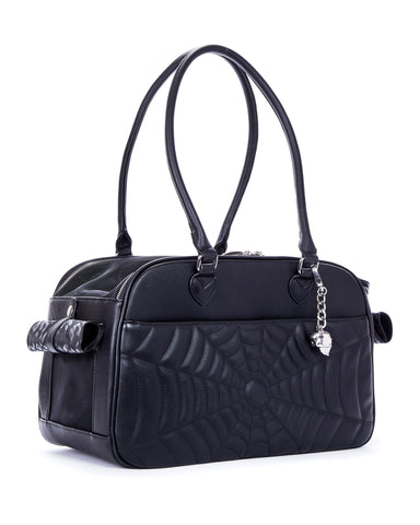 The Elvira Lux Pet Carrier - MATTE BLACK