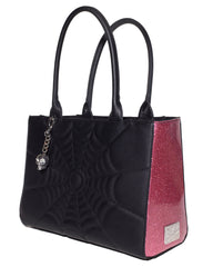 The Elvira LuxLUCKY ME Tote - BLACK MATTE/PINK BUBBLY SPARKLE