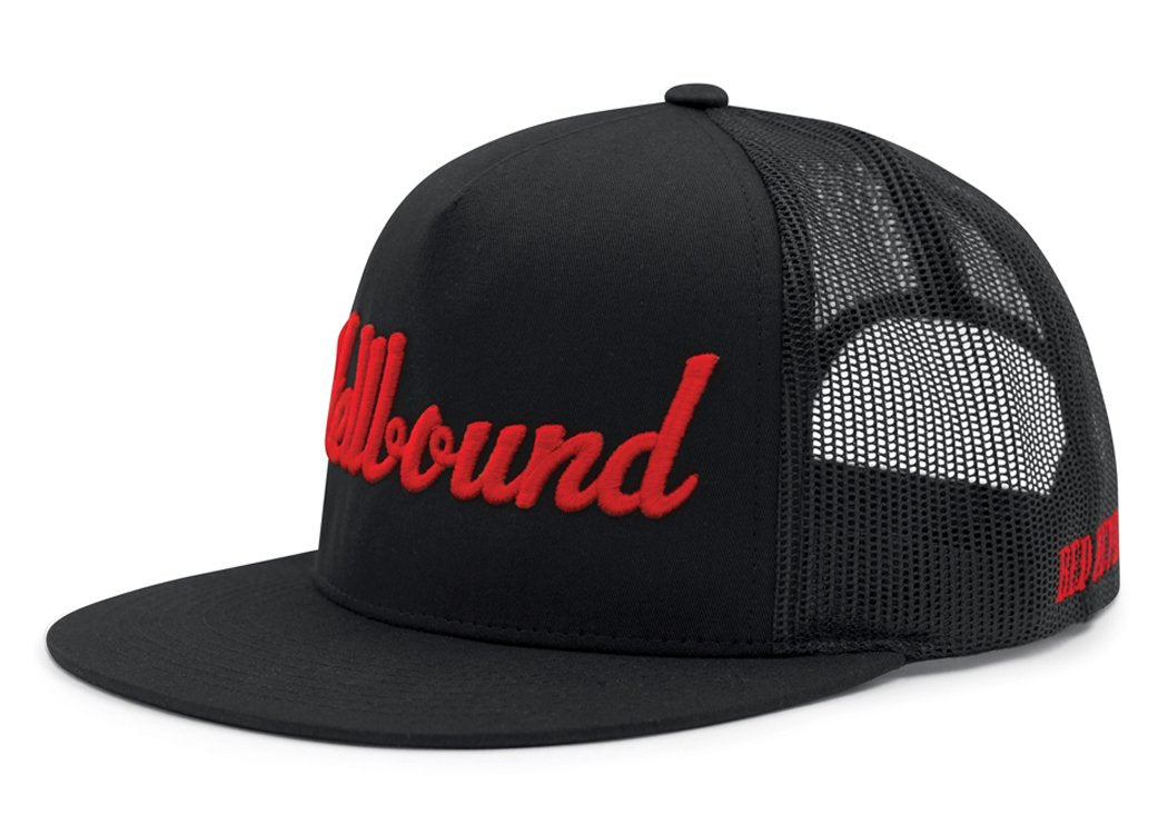 HELLBOUND Trucker Cap - BLACK/BLACK/RED