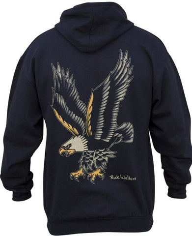The EAGLE Men's Full Zip Fleece Hooded Sweatshirt