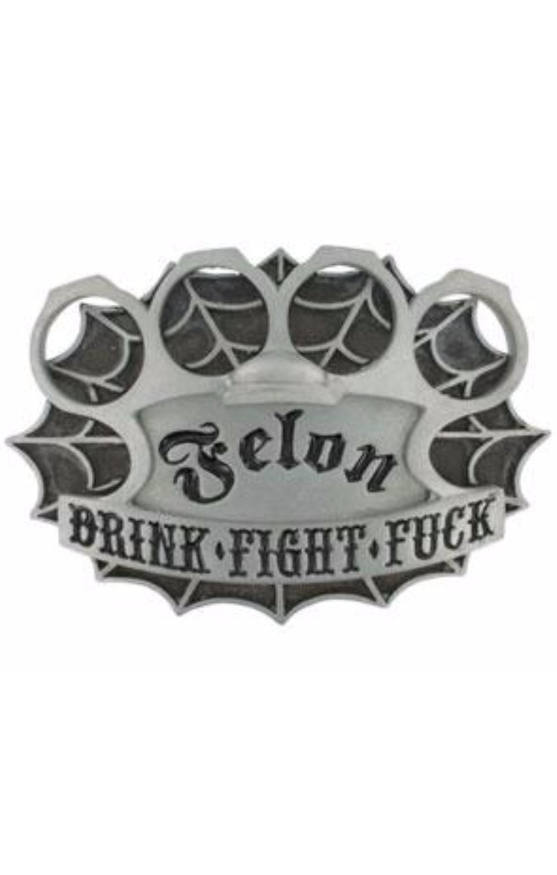 The DRINK FIGHT FUCK Belt Buckle