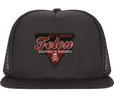 The CHOPPERS & BOBBERS Flat Bill Trucker Cap