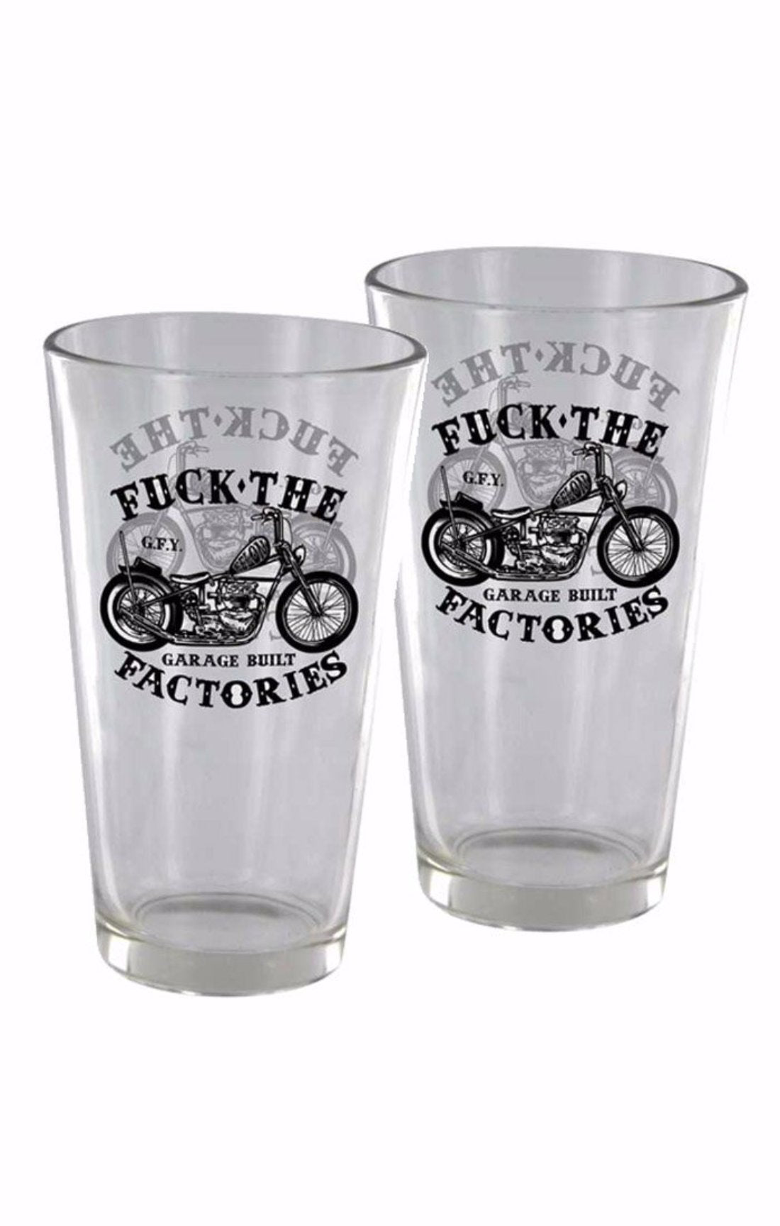 The GARAGE BUILT Pint Glass Set (SET OF 2 GLASSES)