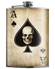 The ACE OF SPADES Stainless Steel Flask