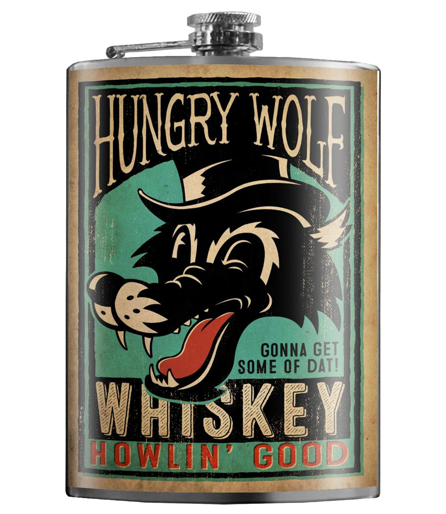 The HUNGRY WOLF Stainless Steel Flask