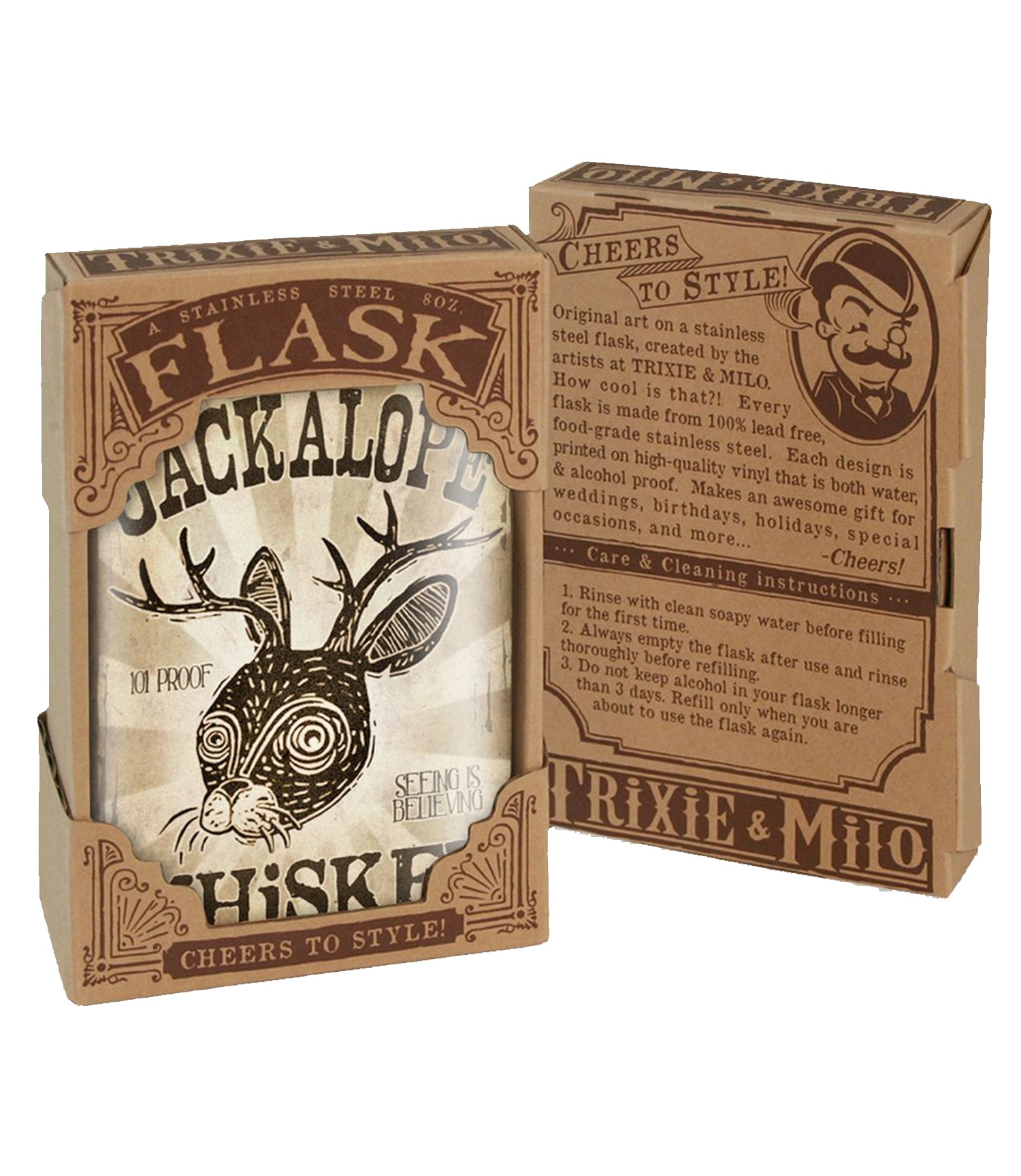 The JACKALOPE Stainless Steel Flask