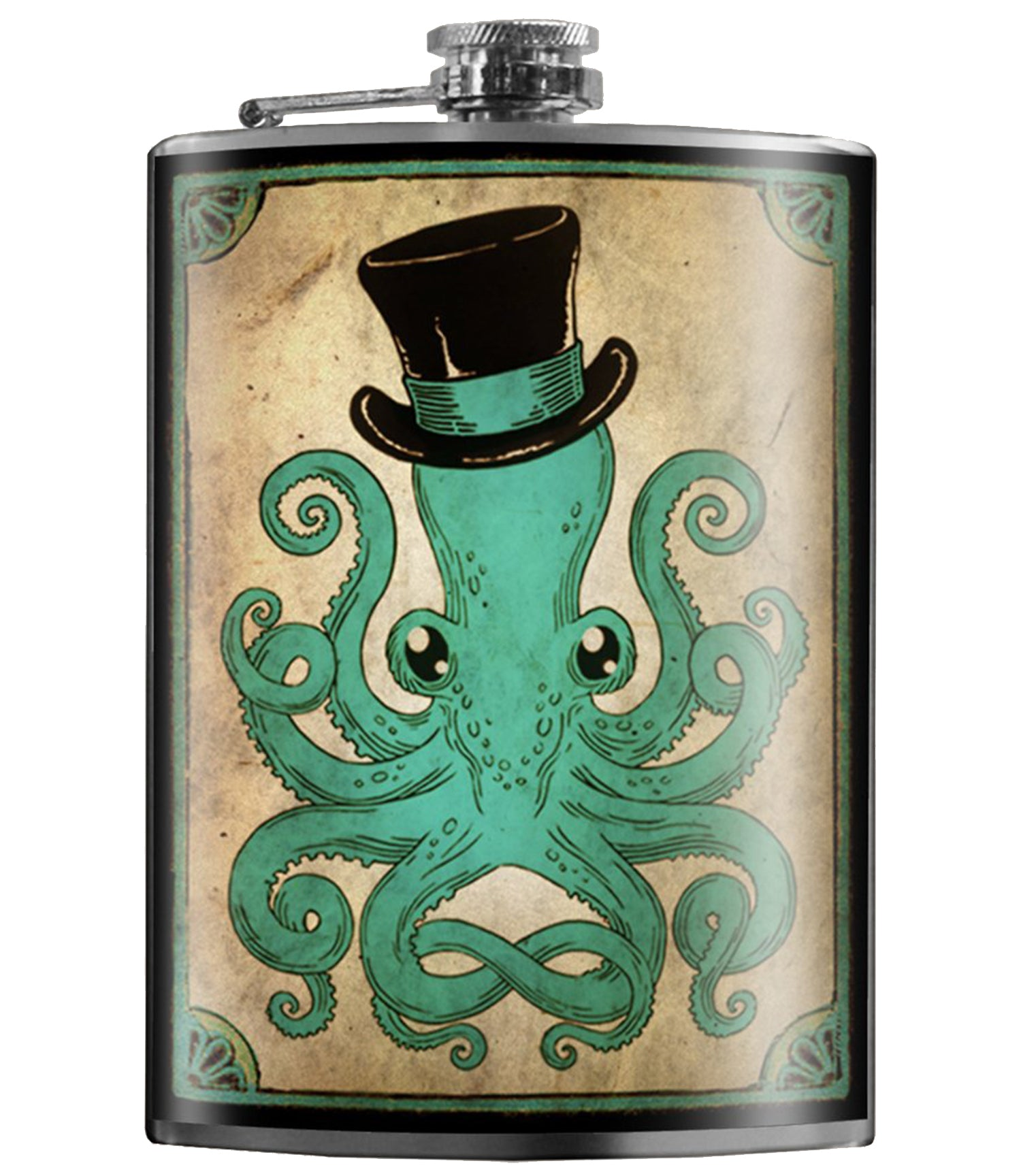 The GENTLEMAN OCTOPUS Stainless Steel Flask