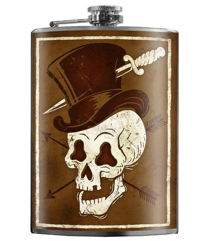 The SKULL HAT Stainless Steel Flask