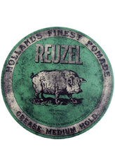 REUZEL GREEN Medium Hold Grease Pomade 4 oz.