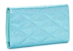 The V-8 HOT ROD Wallet - MERMAID SPARKLE BLUE