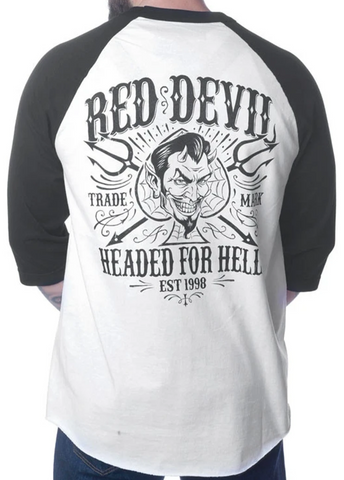 The HEADED FOR HELL Raglan Tee