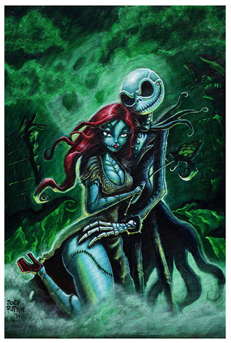 JACK AND SALLY Art Print