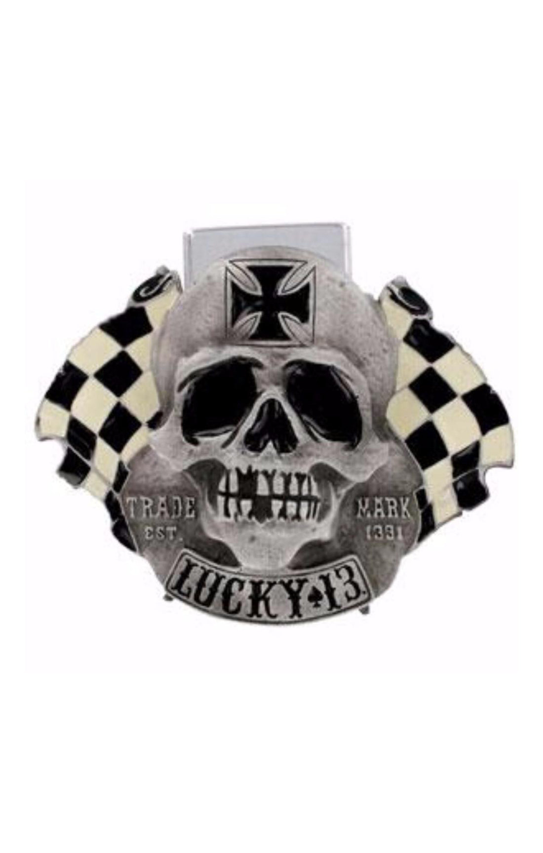 The Vintage Skull Flags Lighter Buckle