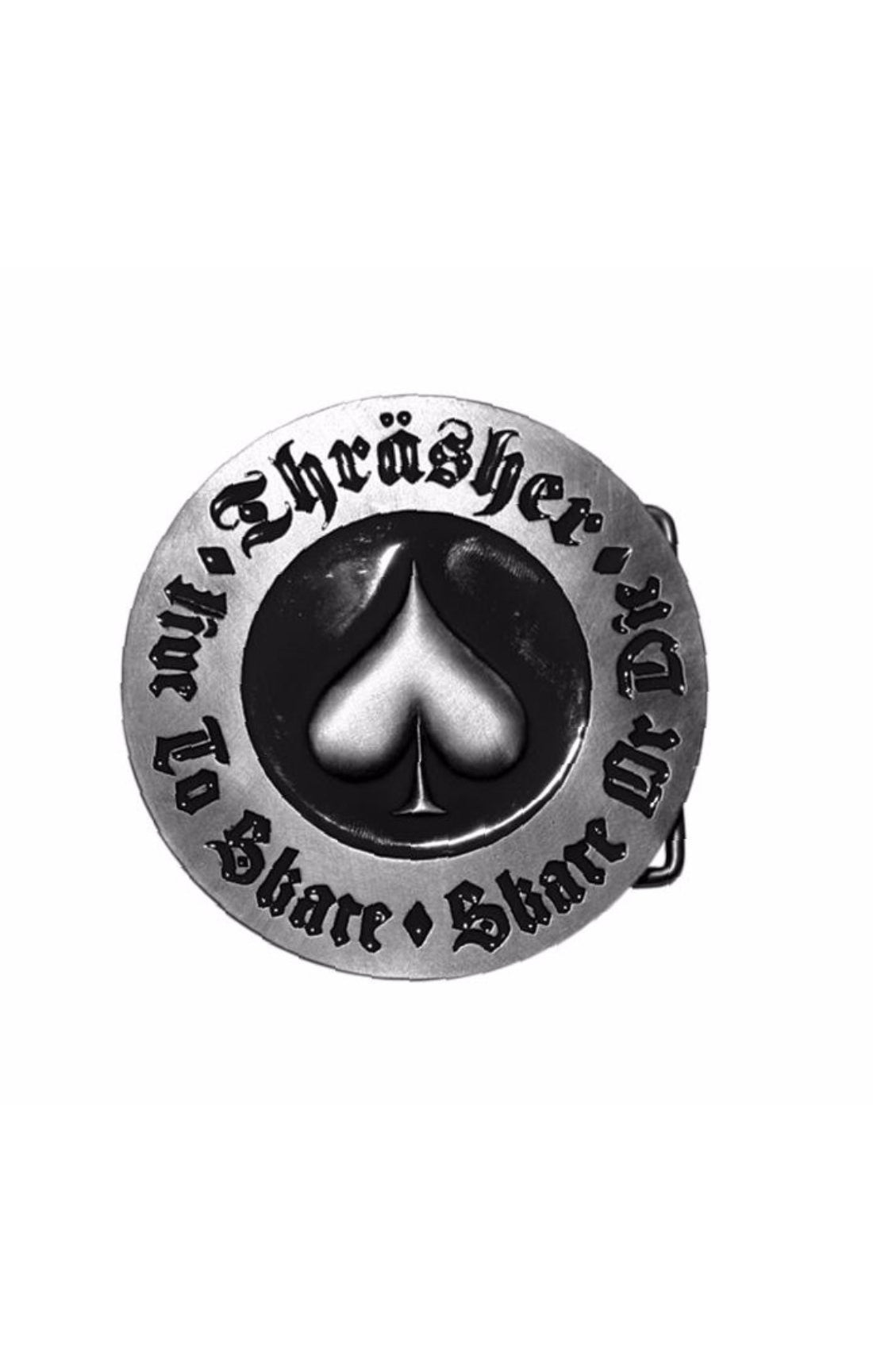 The Thrasher SKATE OR DIE Bottle Opener Buckle