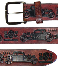 The COUPE 13 Belt - ANTIQUED BROWN