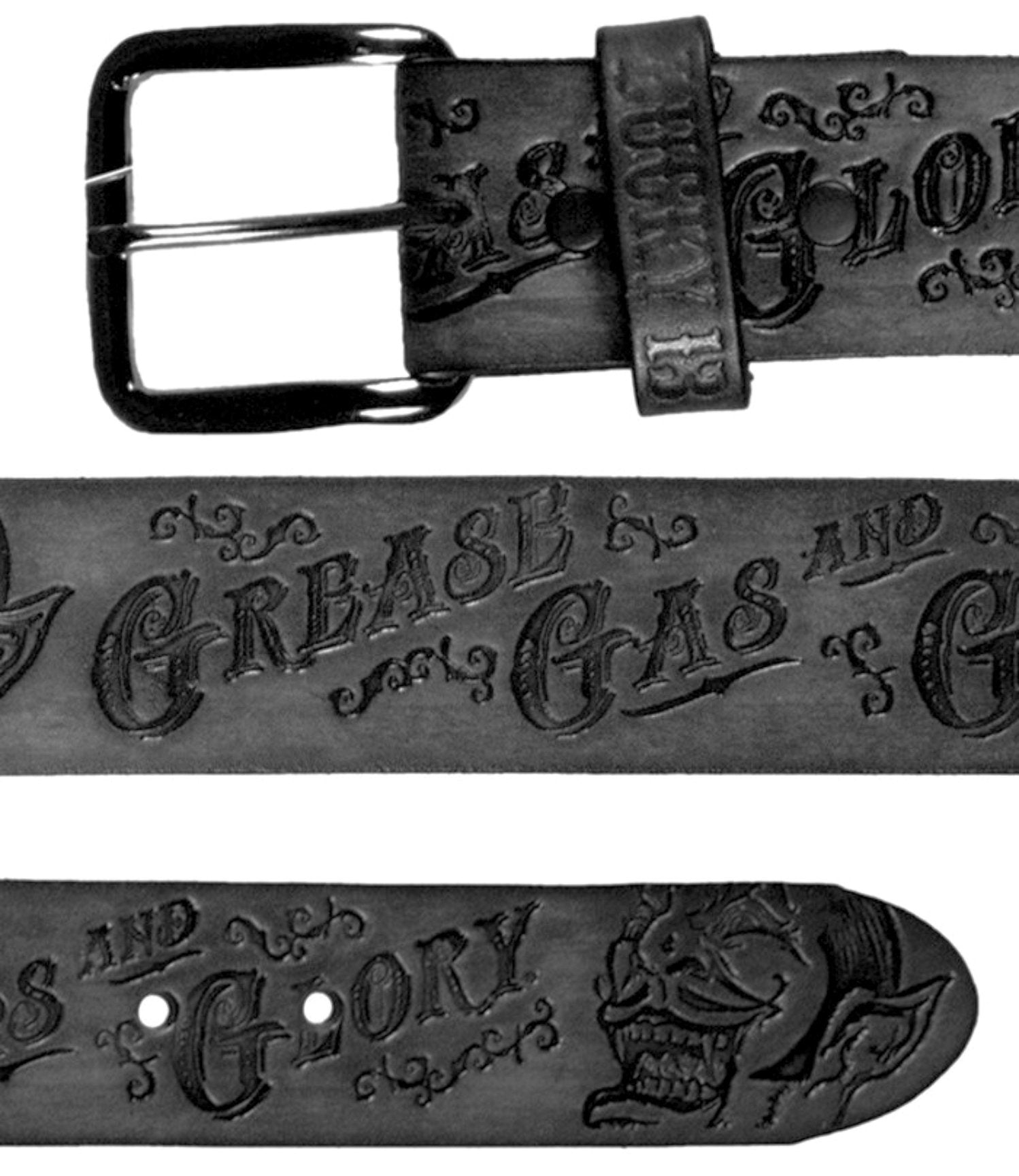 The GREASE, GAS AND GLORY Belt - BLACK