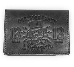 The DEATH OR GLORY Card Holder Wallet - BLACK - A GGG EXCLUSIVE!