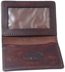 The DEATH OR GLORY Card Holder Wallet - ANTIQUED BROWN