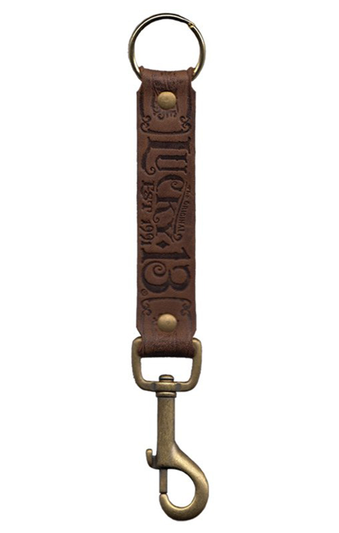 The MFG CO Leather Key Fob - ANTIQUED BROWN
