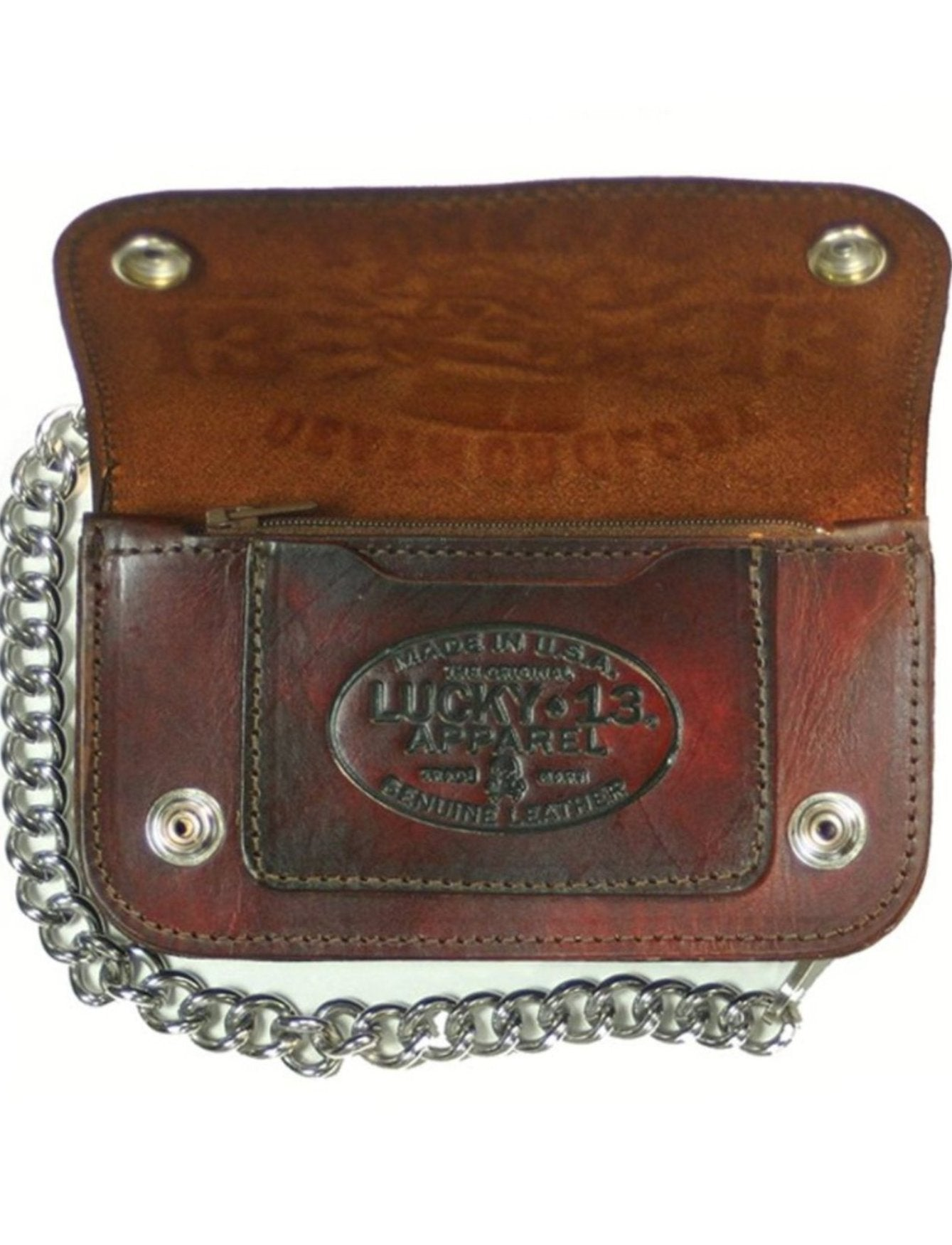 The DEATH OR GLORY Wallet - ANTIQUED BROWN