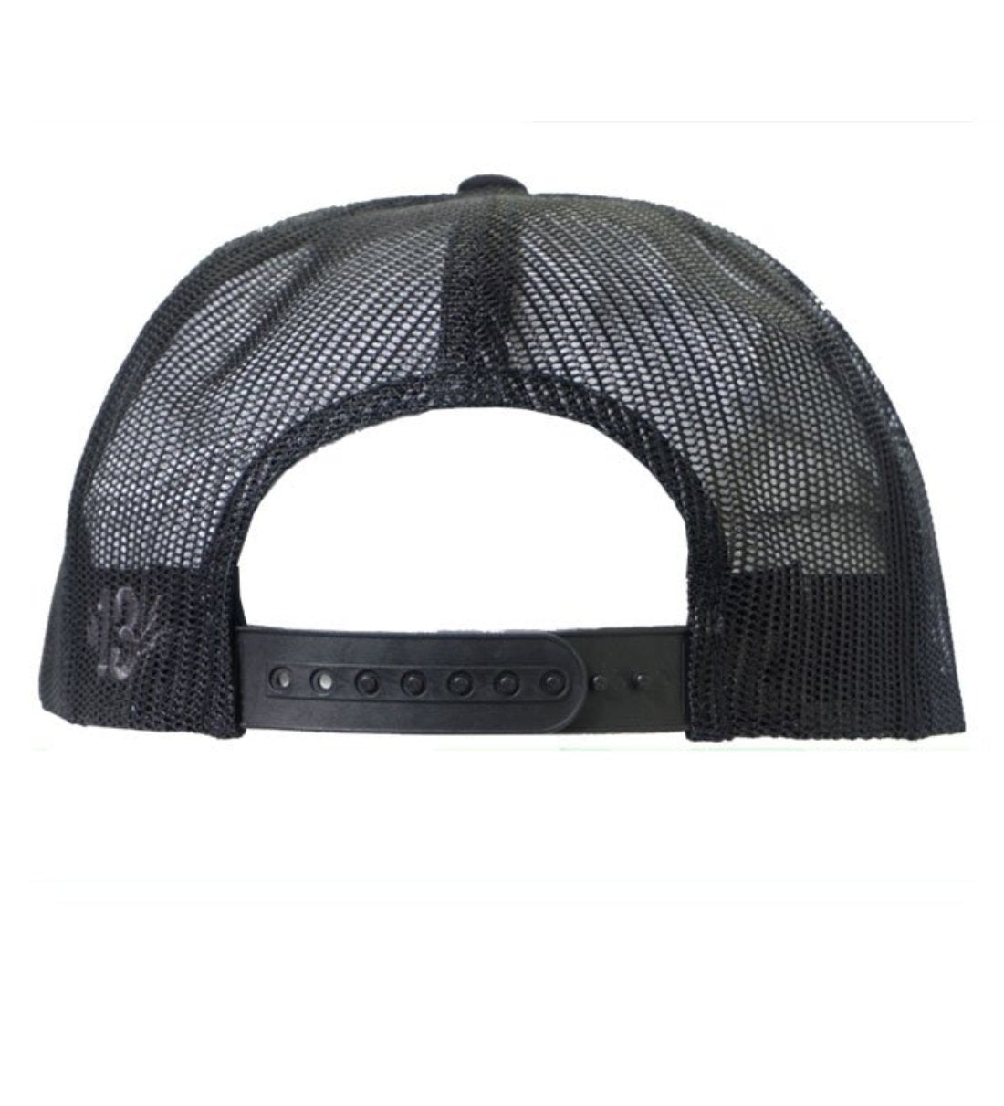 The SHOCKER Two-Tone Snapback Trucker Cap - BLACK/WHITE