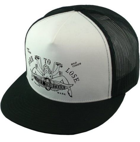 The LUCY Two-Tone Trucker Cap - BLACK/WHITE