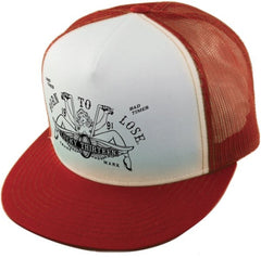 The LUCY Two-Tone Trucker Cap - RED/WHITE