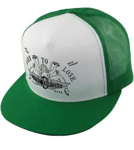 The LUCY Two Tone Trucker Cap - GREEN/WHITE