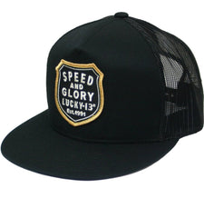 The SPEED & GLORY Trucker Cap - BLACK
