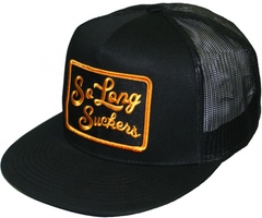 The SO LONG SUCKERS Trucker Cap - BLACK