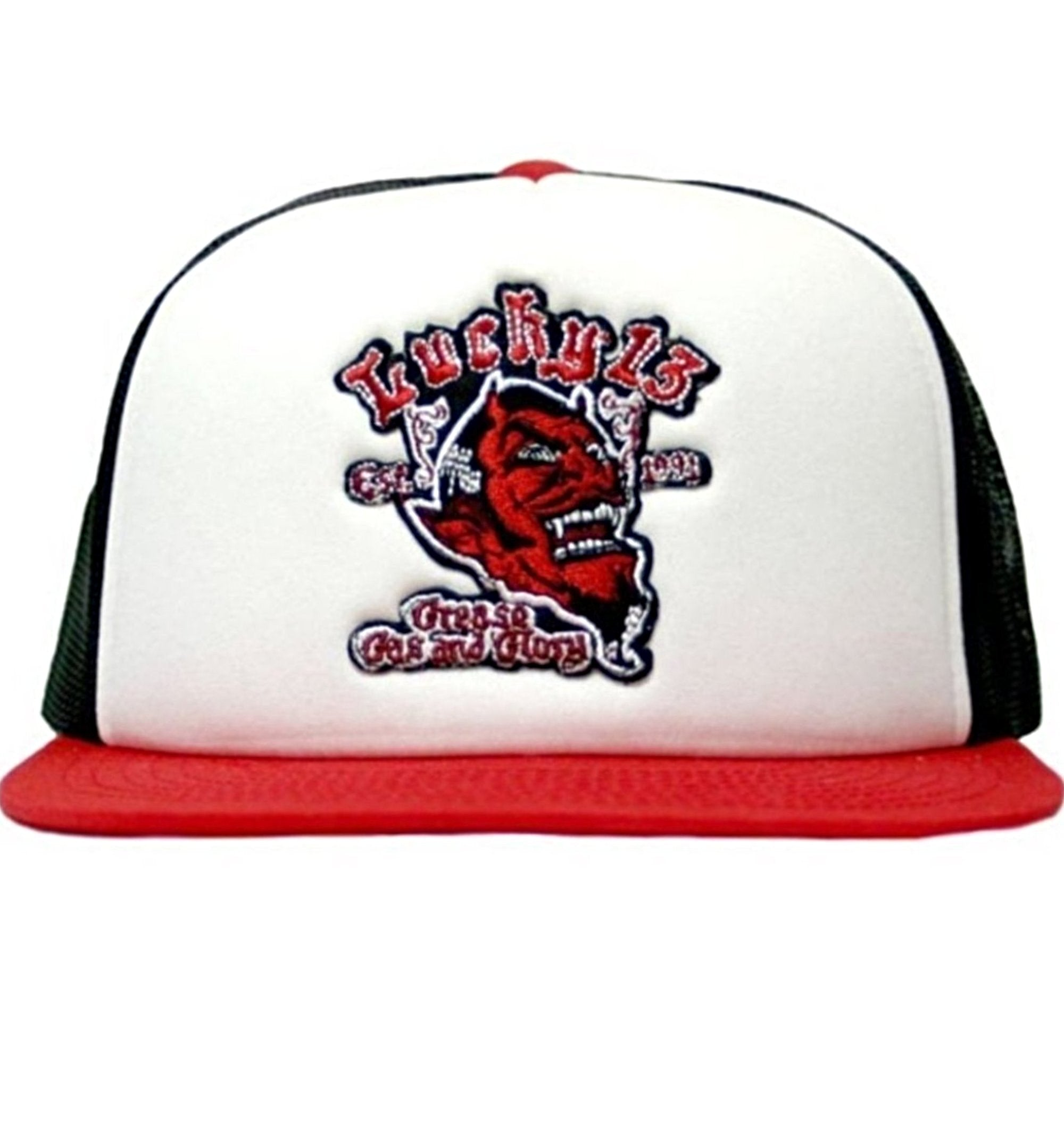 The GREASE, GAS & GLORY Traditional Trucker Cap