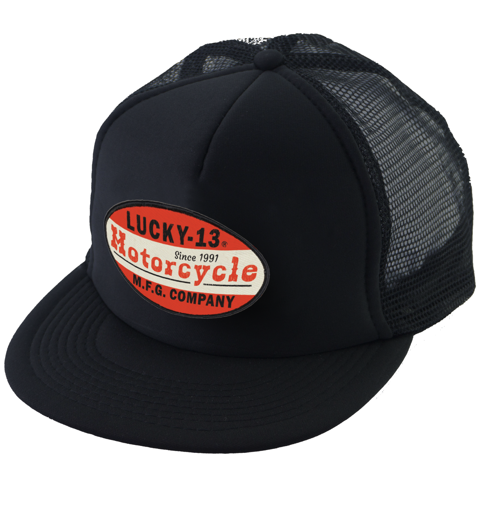 The MOTO 13 Trucker Cap - BLACK