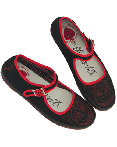 The SACRED HEART Flat - BLACK/RED